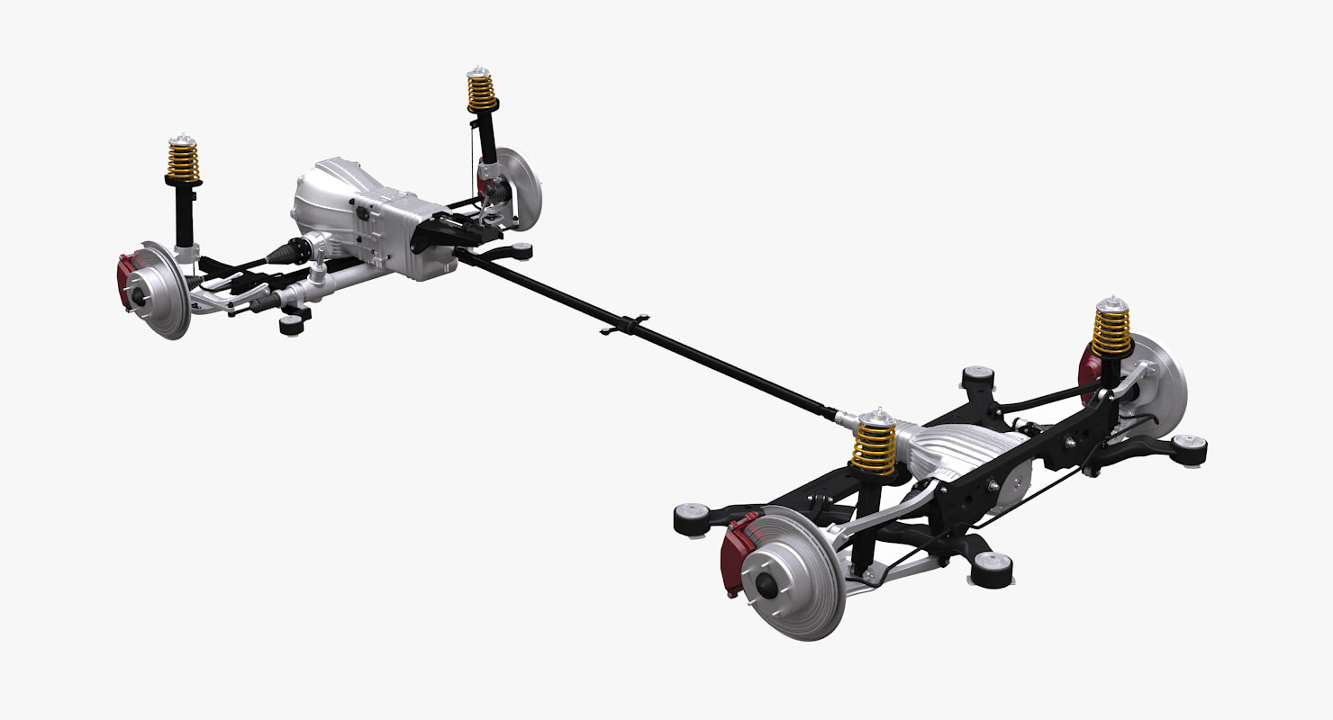 3d typical 4wd chassis