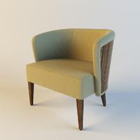 armchair ethnic 3d model