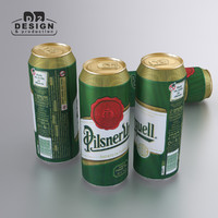 beer pilsner urquell 3d model