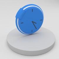 3d clock icon model