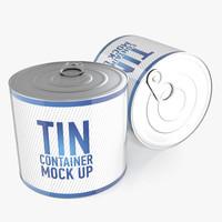3d model tin new