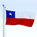 Chile flag 3D models