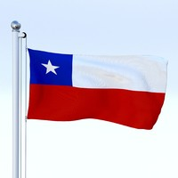 Animated Chile Flag