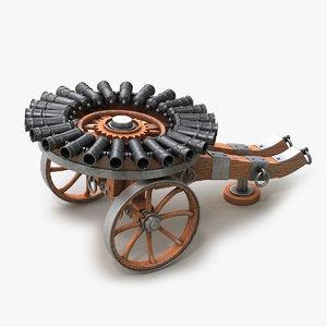 cannon medieval v2 3d max