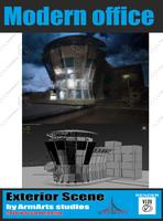 commercional building modern 3d model