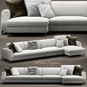 frigerio salotti divani 3d model