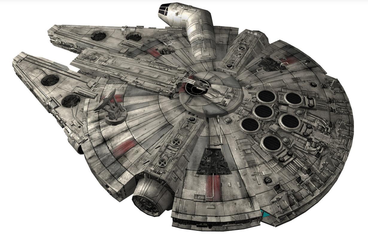 3ds max star wars millennium falcon