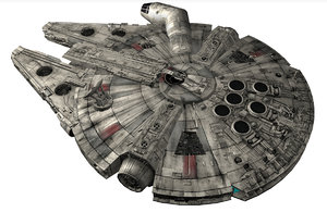 3ds max star wars millennium falcon