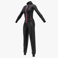 Female sport suit T pose