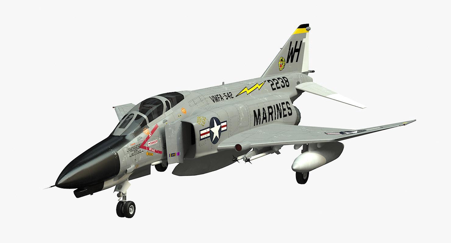 f-4 phantom vmfa-542 3d model