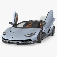 3d lamborghini centenario roadster 2017