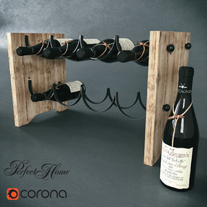 3d piemonte wine rack perfect model
