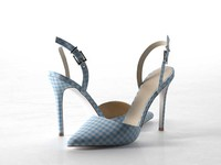 pyramid pointed heels 3d model