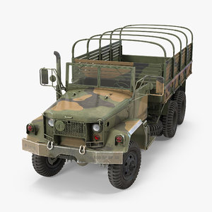 army cargo truck m35 3d model