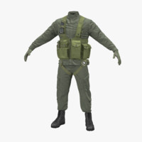 3d model helicopter pilot uniform 2