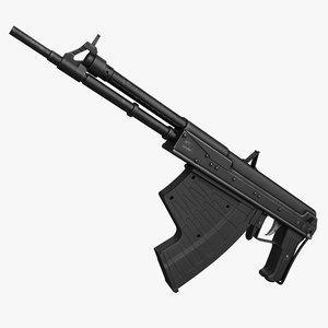 3d model underwater rifle aps