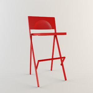 3d bar stool emu mia