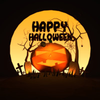 halloween scenery 3d model