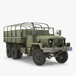3d model cargo truck m35 rigged