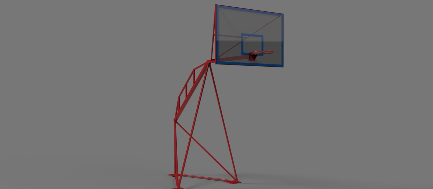 x basketball frame table