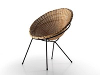 wicker chair 3d model