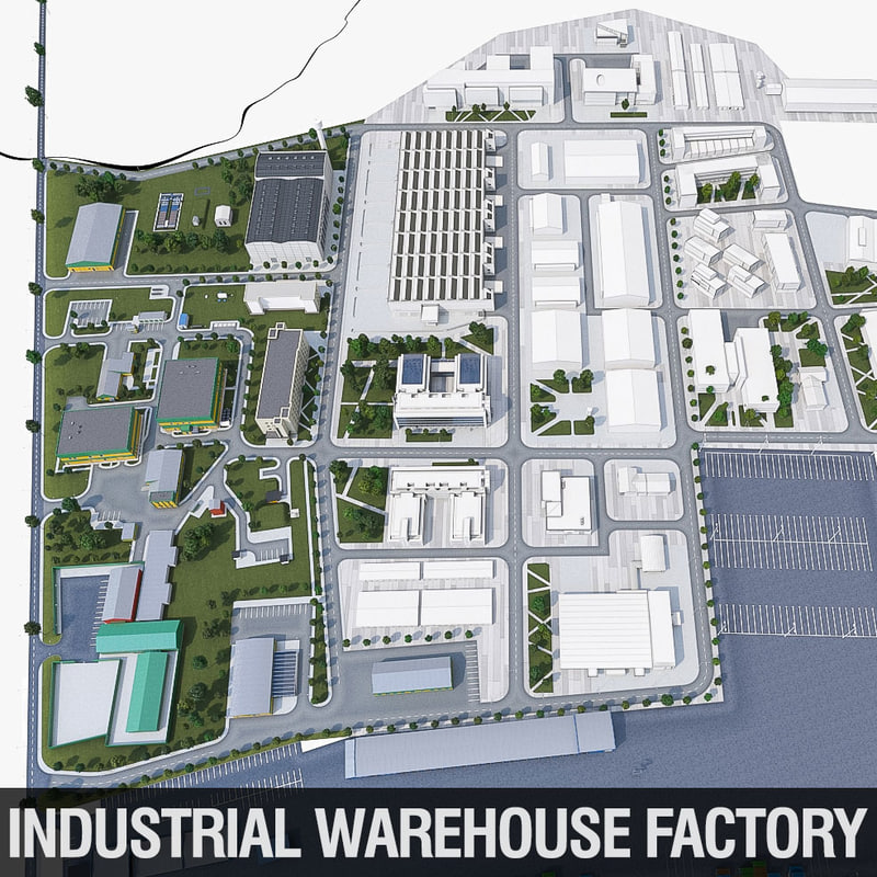 industrial factory complex 3ds