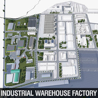 Industrial factory warehouse complex