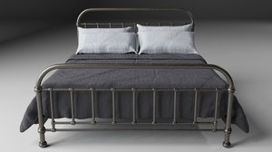 3d industrial iron bed model