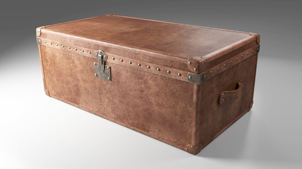 trunk vintage blender 3d obj