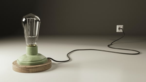 3d industrial lamp model