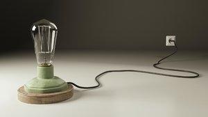 3d industrial lamp model