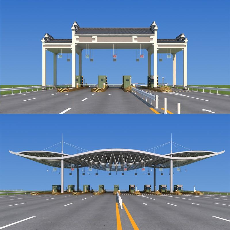 3d highway toll station