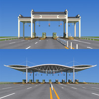 3d highway toll station