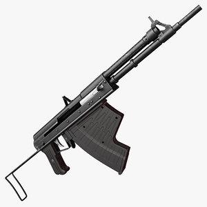 3d model aps underwater assault rifle