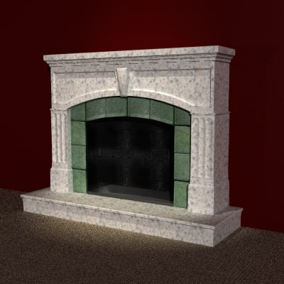 3d fireplace home apartment domestic