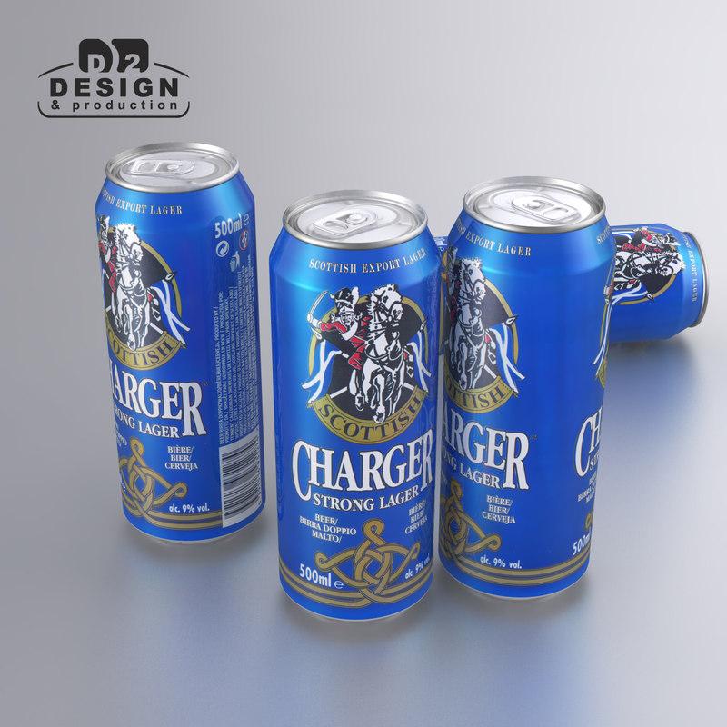 3d beer scottish charger model