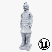 3d unreal terracotta warrior ue4 model