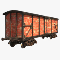 Realistic Old Train Car