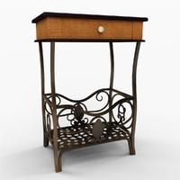 margaret end table 3d dwg