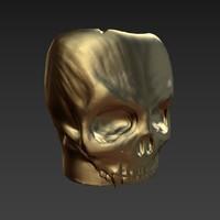 3d skull mug model