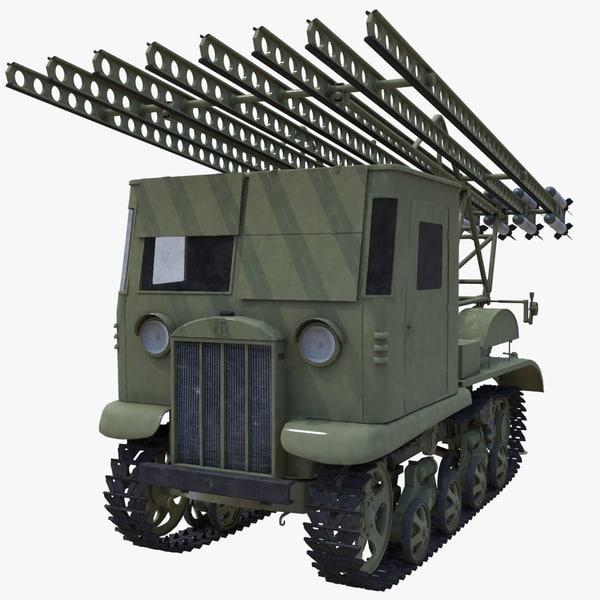 3d soviet katyusha rocket launcher