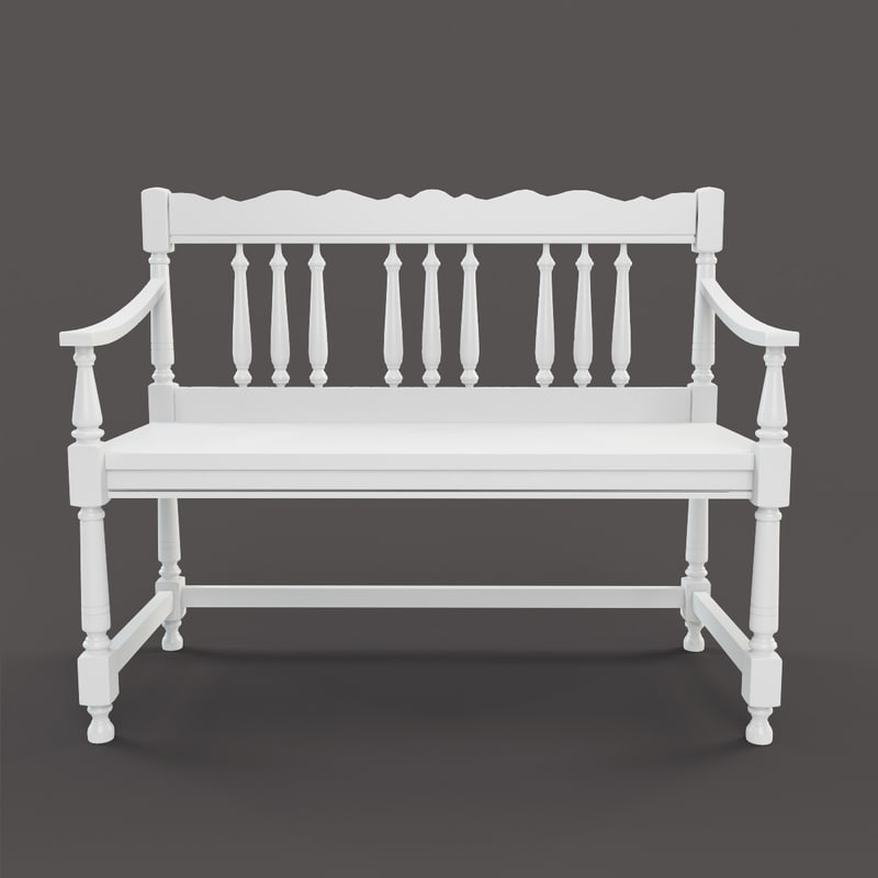 masterpiece wood bench 3d max