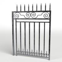 3d model iron gate 1