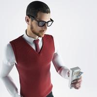 3d bank employee model