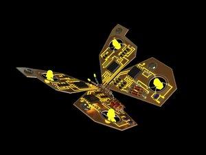 mechanical butterfly 3d max