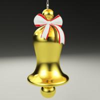 3d model christmas bell