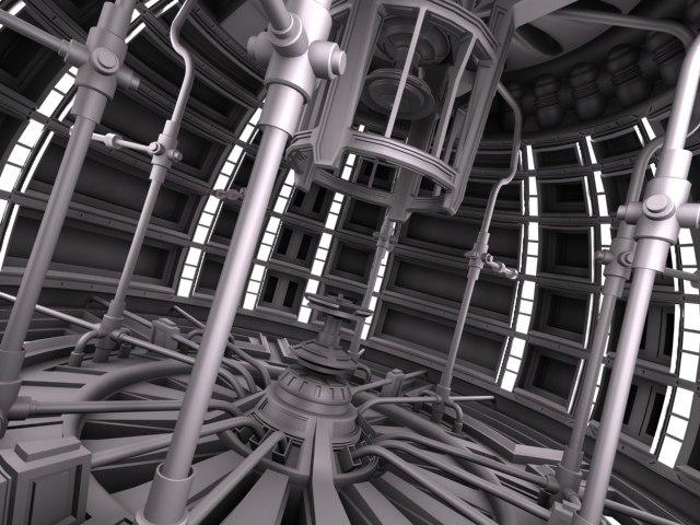 sci fi reactor 3d model