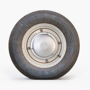 wheel tire vintage 3d max