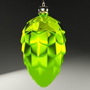 3d model christmas cone