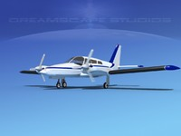 propeller pa-34 seneca 3d model